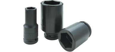 Sockets Gray PL2634 1-1/16 Inch X 3/4 Inch Drive 6 Point Deep Length Black Impact Socket