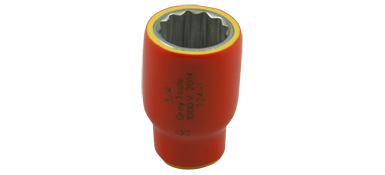 Sockets Gray T28-I 7/8 Inch X 3/8 Inch Drive 12 Point Standard Length 1000V Insulated
