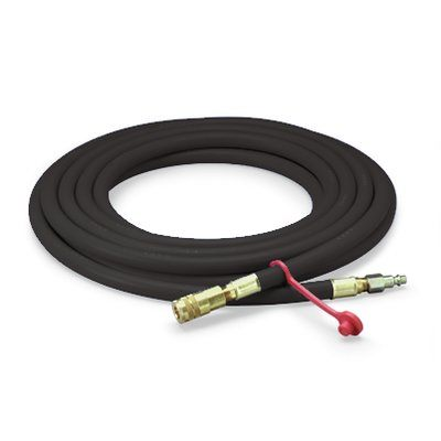 Air Hoses 3M W-9445-25 High Pressure Supplied Air Hose Schrader Fittings (3/8 Inch ID x 25 ft)