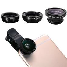 3-IN-1 UNIVERSAL SMARTPHONE LENSES: FISH EYE + WIDE ANGLE + MACRO **55% OFF**