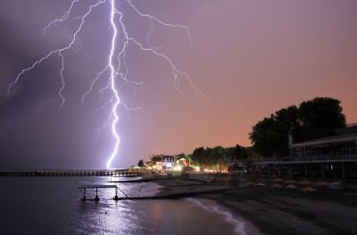 NATURAL SOUNDS MP3 DIGITAL DOWNLOAD THUNDER & LIGHTNING BY THE SEA OCEAN, THUNDERSTORM, CALMING, RELAXATION