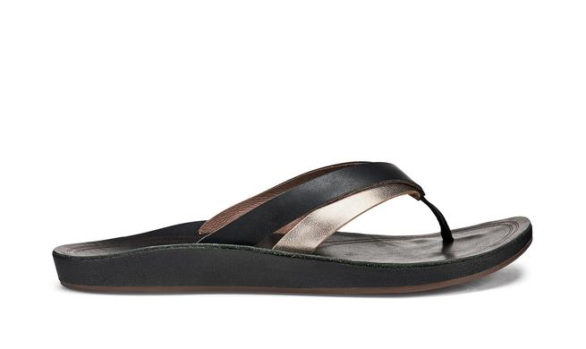 OluKai  Women's KaeKae  Flip Flops/Black and Silver