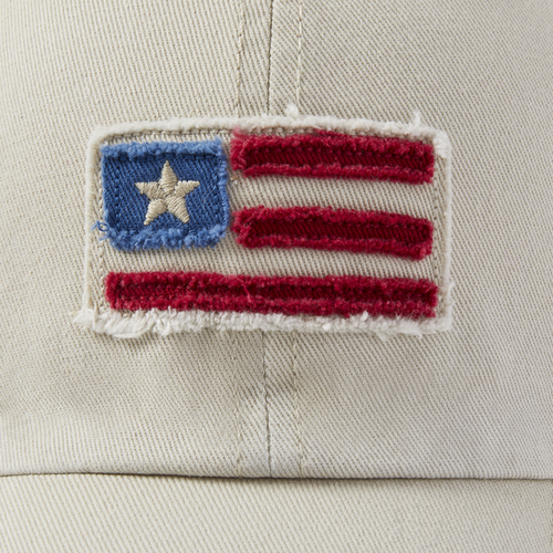 Tattered Chill Cap American Flag