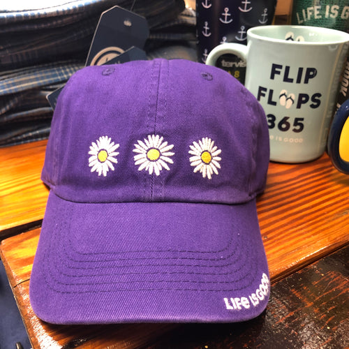 Chill Cap Three Daisies Deep Purple