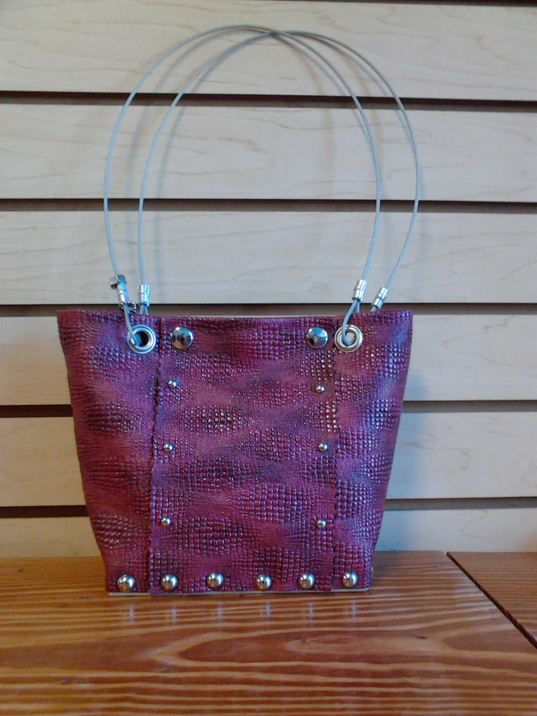 Hardware Handbag Small Berry
