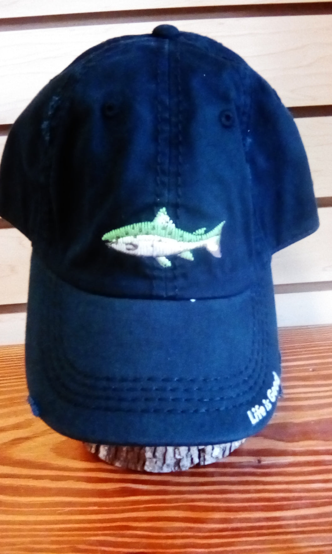 Life is Good Sunwashed Chill Cap Fish Stitch