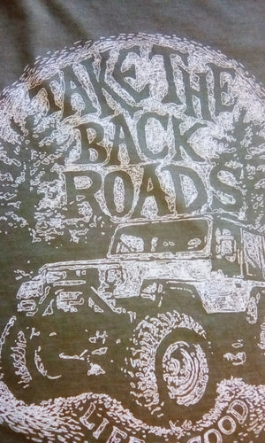 Mens Cool Tee Take the Back Road