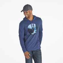 Men's Long Sleeve Hooded Bison Silhouette