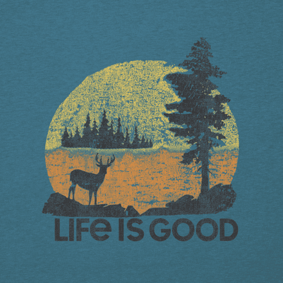 Men's Long Sleeve Cool Tee Retro Deer