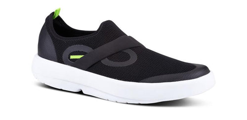 OOFOS Men's Oomg Low Shoe White/Black