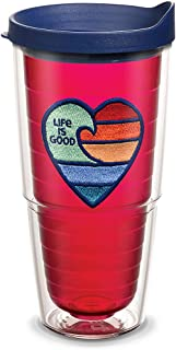 Life is Good 24 oz. Tervis Tumbler Rainbow Heart