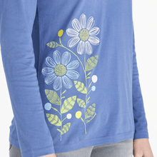 Women's Long Sleeve Life is Good Flower Power