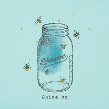 Women's Crusher Mason Jar Fireflies/ Bermuda Blue
