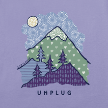 Women's Long Sleeve Crusher Vee Unplug Mountain Pattern