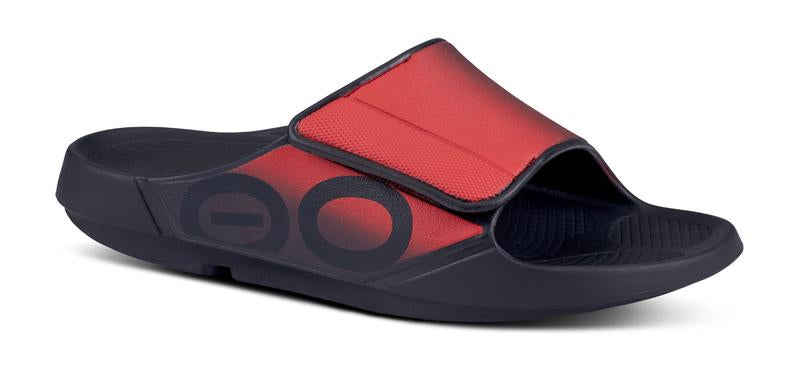 OOahh Unisex Sport Flex Sandal Black/Red