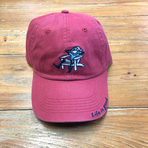 Vintage Chill Cap Adirondack Jake Faded Red