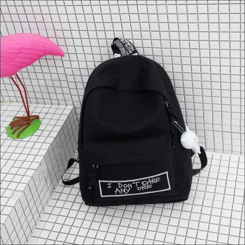 Backpacks GushGush Backpacks Mens Rucksack Schoolbags Street Backpacks All-match Canvas Doll Pendant