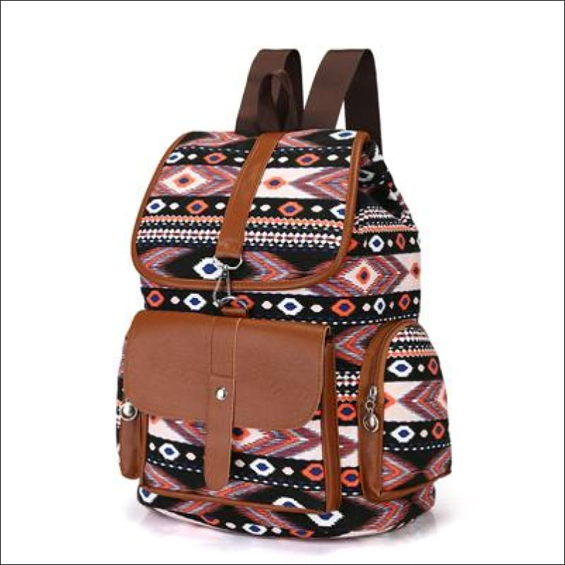 Backpacks GushGush Backpacks Mens Rucksack Schoolbags Street Backpacks Bohemia Style Printing Bag
