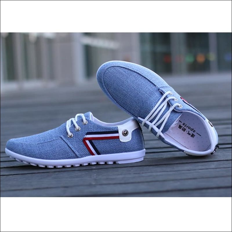Men Shoes GushGush Men Shoes Breathable Canvas Trainers Casual Shoes
