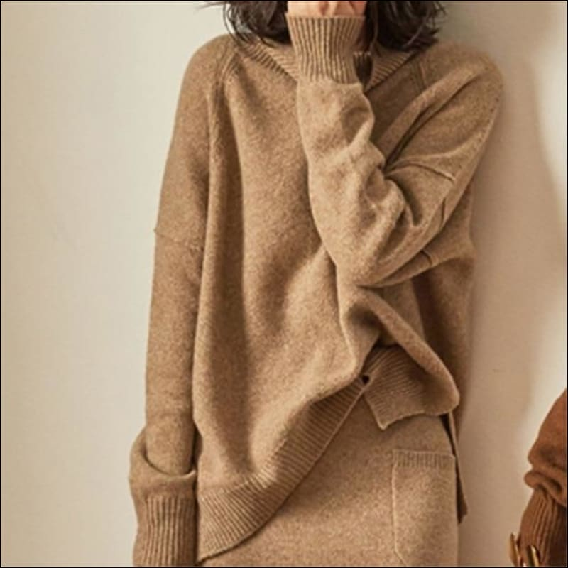 Women Hoodies & Sweatshirts GushGush Street Sweaters Women Hoodies & Sweatshirts Cashmere Wool Sweaters Pullovers Turtleneck