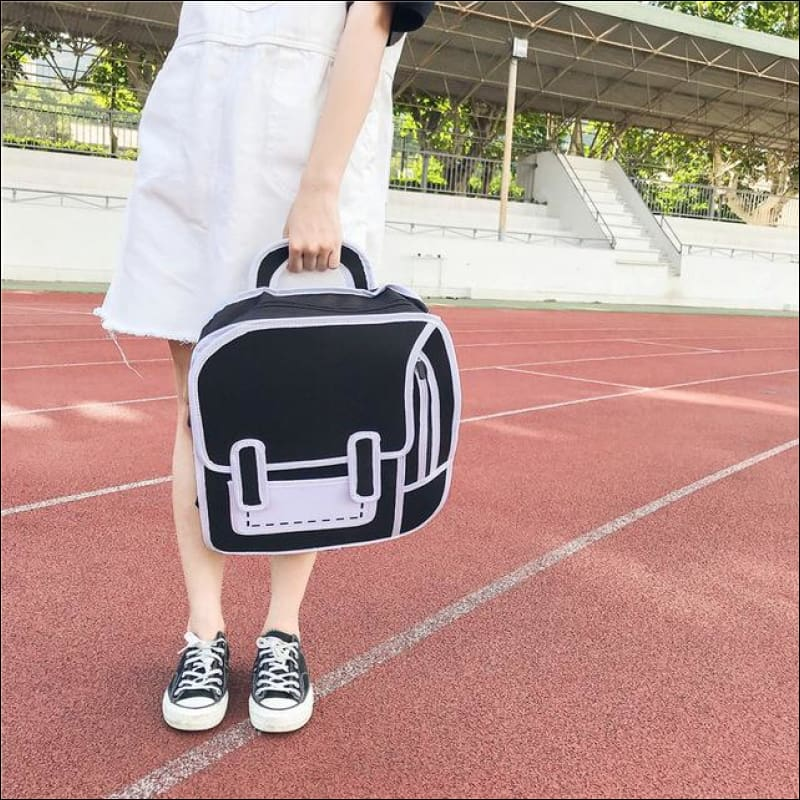 Backpacks GushGush Backpacks Graphic 3D Student Cartoon Shoulder Bag
