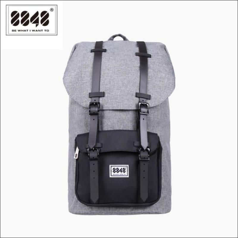 Backpacks GushGush Backpacks Gray Travel Waterproof Oxford Material Pattern Backpack