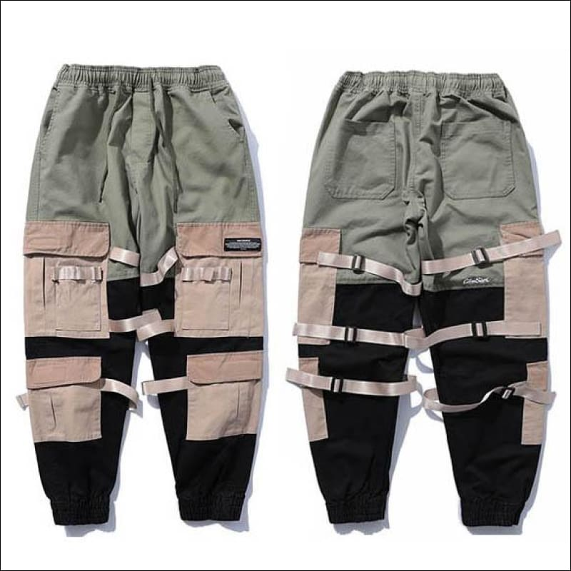 Men Pants GushGush Men Pants Street pants Hip Hop Cargo Streetwear Baggy Harem Pants