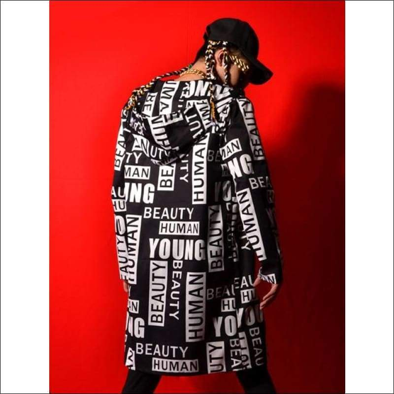 Men Hoodies & Sweatshirts GushGush Men Hoodies & Sweatshirts Hip Hop Long Hooded Trench Coat