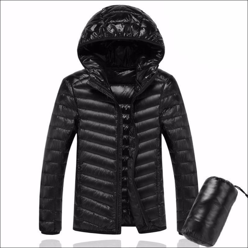 Men Hoodies & Sweatshirts GushGush Men Hoodies & Sweatshirts Hooded UltraLight White Duck Down Jacket