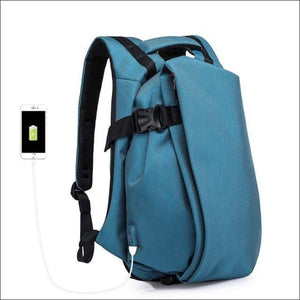 Backpacks GushGush Backpacks Laptop USB Port Waterproof Travel Backpack