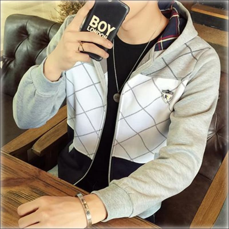 Men Hoodies & Sweatshirts GushGush Men Hoodies & Sweatshirts Mens Street hoodies Street Sweaters Patchwork Hip Hop Men Fashion Zipper