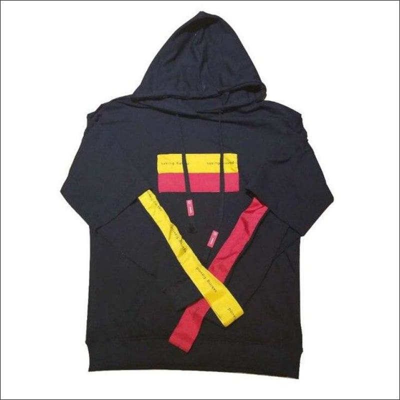 Men Hoodies & Sweatshirts GushGush Men Hoodies & Sweatshirts Street Hoodies Street Jackets Street Sweaters Patchwork Punk Hoodies Black