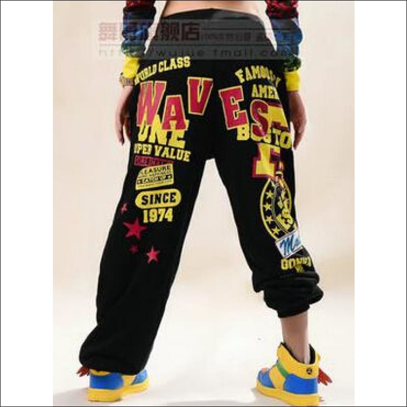 Women Pants GushGush Women Pants Womens Performance Wear Costume Knitted Harem Hip Hop Pants