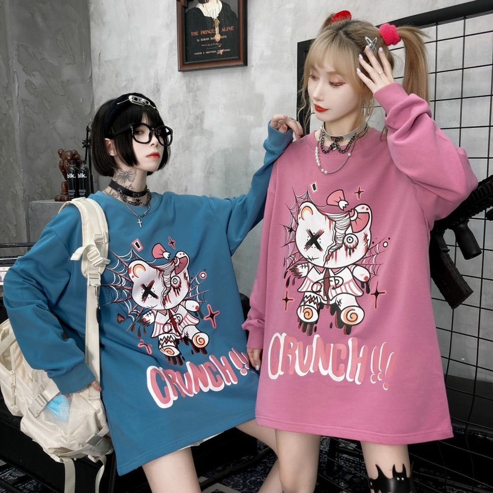 Autumn/Winter Japanese Goth TShirt Long Sleeve
