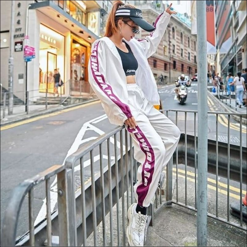 Men Street Suits GushGush Men Street Suits Street Dance Costume Loose Sports Suit