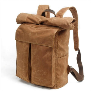 Backpacks GushGush Backpacks Street Vintage Waterproof Waxed Canvas