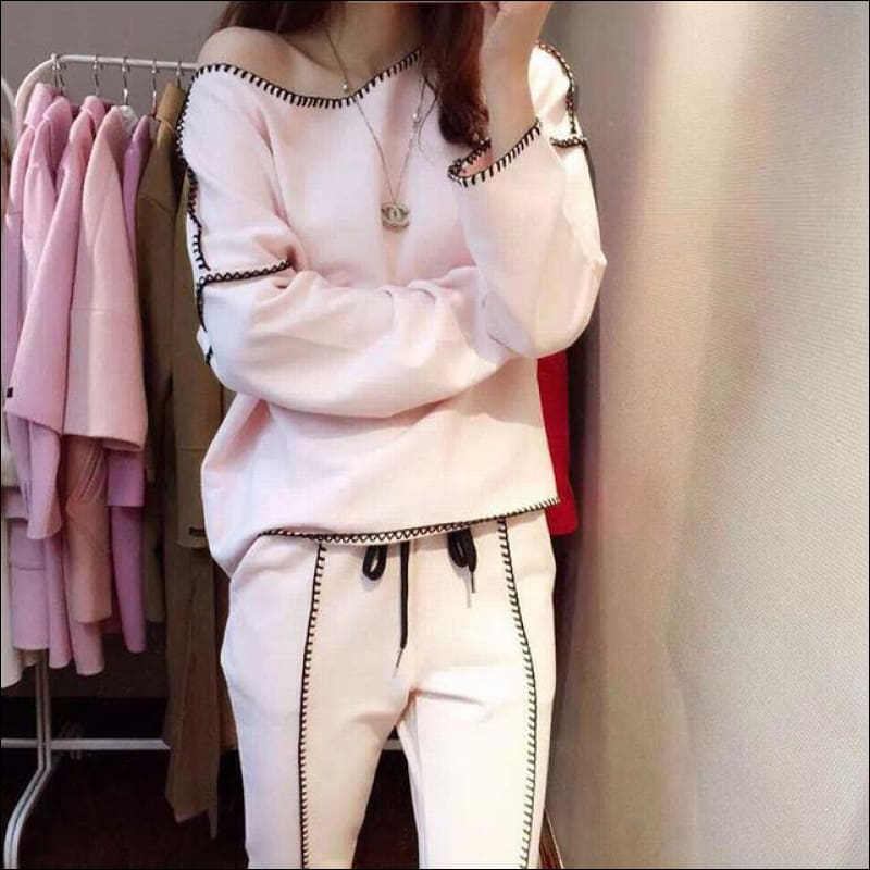 Women Street Suits GushGush Street Suits Women Street Suits Track Suit 2 Pieces Set Sporting Autumn