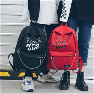 Backpacks GushGush Backpacks Mens Rucksack Schoolbags Street Backpacks Trend Korea Style Knapsack