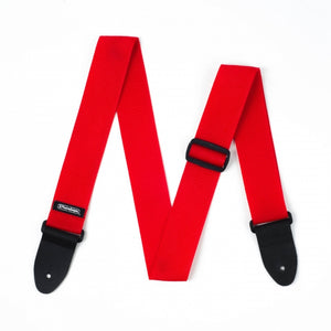 Dunlop Red Poly Strap - soundstore-finland