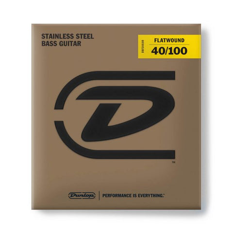 Dunlop Flatwound Bass 40-100 - soundstore-finland