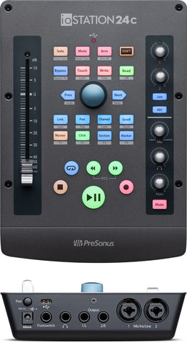 Presonus iOstation 24C audio interface with Faderport