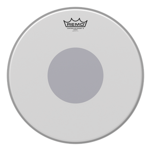 "Remo 14"" Controlled Sound X Coated Black Dot - soundstore-finland"