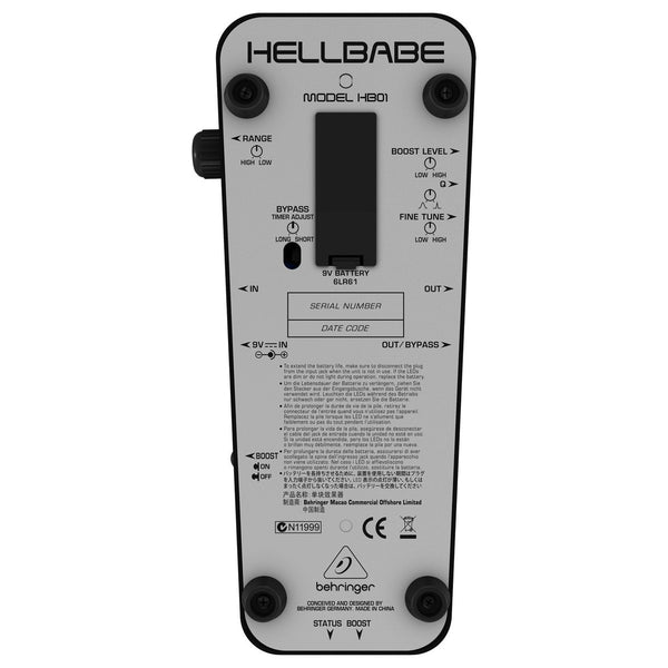 Behringer HB01 Hellbabe Wah - soundstore-finland