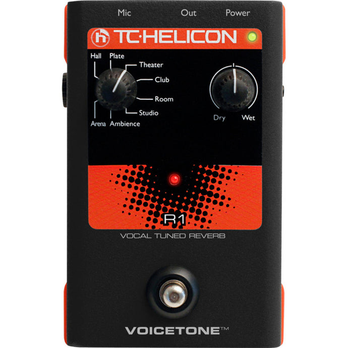 TC-Helicon VoiceTone R1 Vocal Tuned Reverb