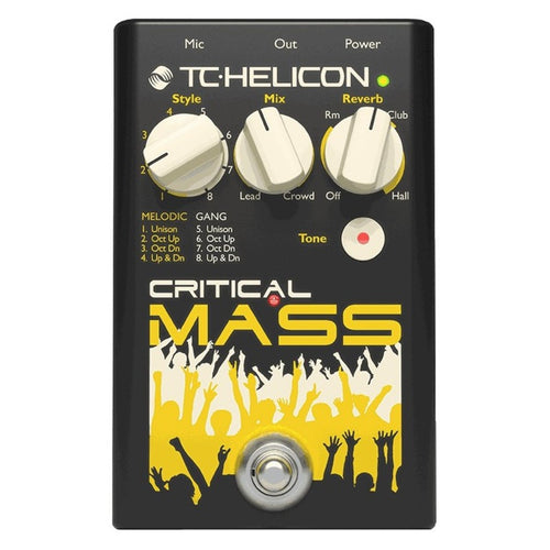 TC-Helicon Critical Mass (kuoro, reverb, tone)