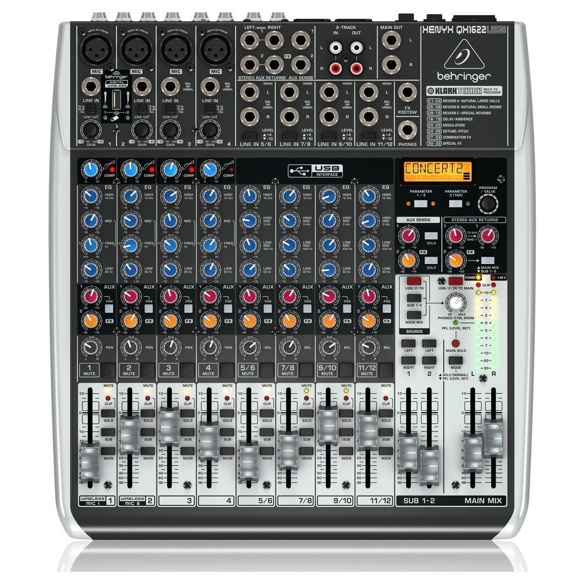 Behringer Xenyx QX1622USB mikseri - soundstore-finland