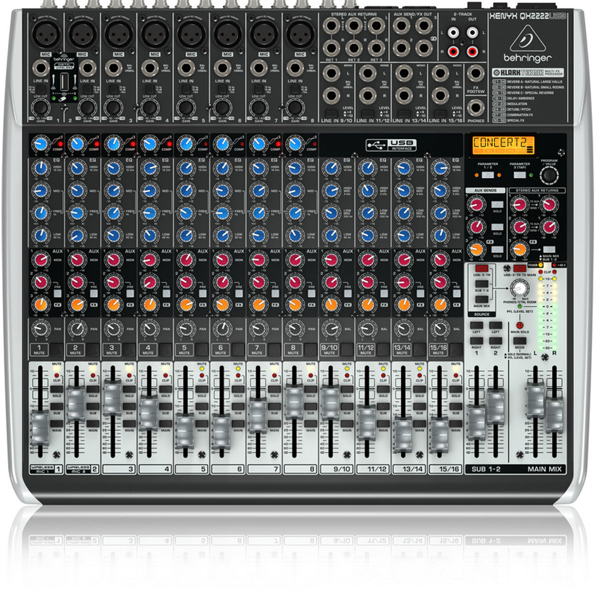 Behringer Xenyx QX2222USB mikseri - soundstore-finland