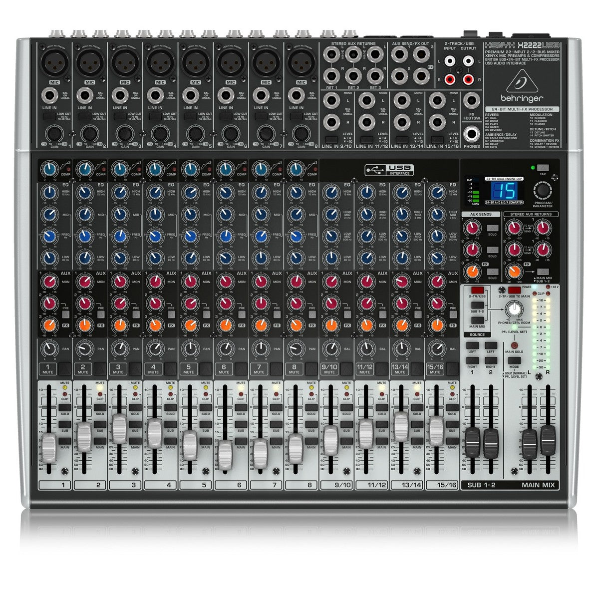 Behringer Xenyx X2222USB mikseri - soundstore-finland
