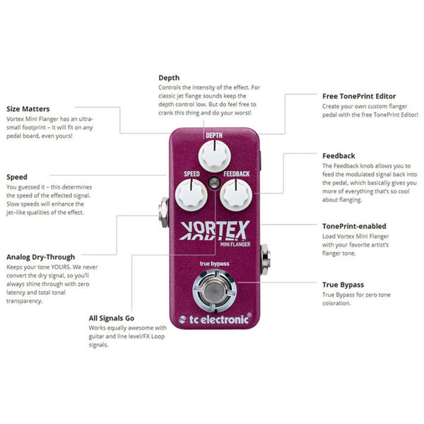 TC Electronic Vortex Mini Flanger - soundstore-finland