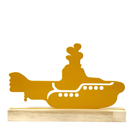 Escultura de Metal - Beatles - Yellow Submarine, Decorativo do Studio Makers Manufatura